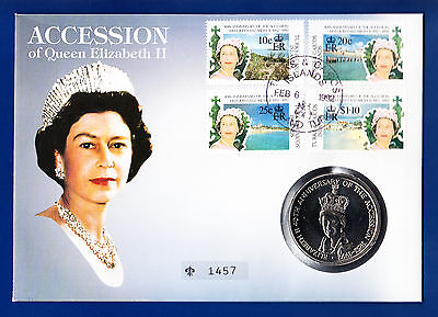 Quenn Elizabeth Ii  ** Numisbrief Monarchien  Mit 5 Crowns Turks And Caicos