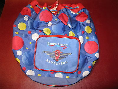 British Airways drawstring vinyl travel bag