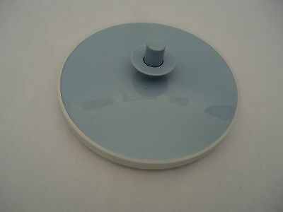 "TUPPERWARE Replacement Push Button Lid 1418 1417 Blue 6.5"" fits gallon pitcher"