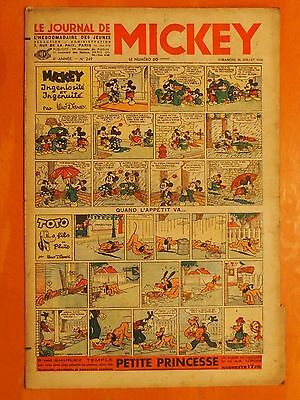 Le journal de Mickey N° 249 du 23/07/1939-Walt Disney. éditions Opera Mundi