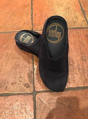 Navy Suede Fitflop Crocs Size Uk5