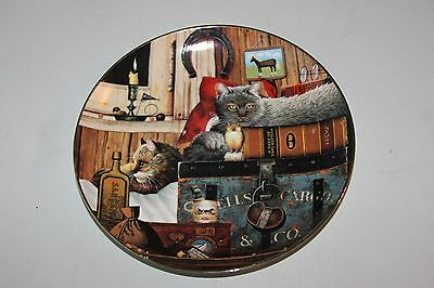"""Kitty Cargo 8"""" Plate by Charles Wysocki©2001 2nd issue Purrfect Pairs Collection"""
