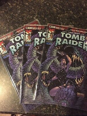 Tomb Raider #19A 1999 Lot Of 3 All NM Lara Croft Free Shipping.