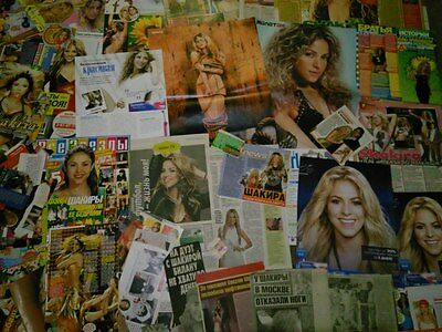 Shakira big collection 200+ clipping page 10 posters rare