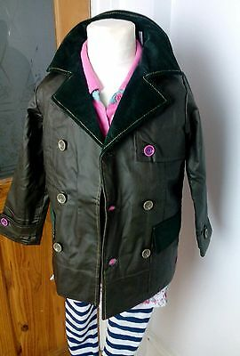 Girls size 4 years brand new joules country green very pretty waxed coat