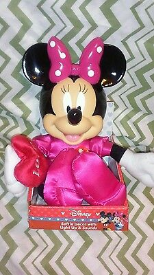 "Disney  "" Minnie Mouse"" Softie Decor With Light Up & Sounds"