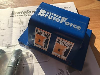Oxford BRUTEFORCE Brute Force Ground Wall Anchor Trials Motocross bike Security
