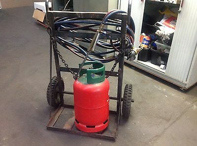 Gas Bottle Portable Welding Cylinder Trolley Cart and pipes and tourch