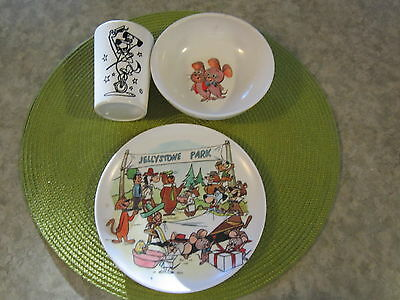 Early-Mid 1960's Hanna-Barbera Plate, Cereal Bowl & Tumbler