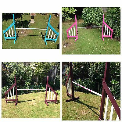 Dog Agility Wooden Dog hurdles Jumps Last Stock 8 Left Kennel Club Size