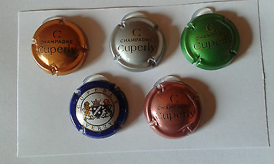 Lot de 5 capsules Champagne Cuperly