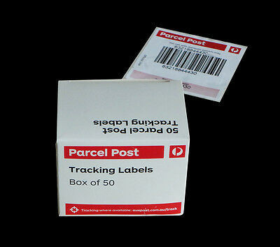 Australia Post Tracking Labels -Box of 50 + 1 Free Labels - Express delivery