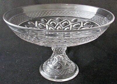 "Elegant Imperial CAPE COD footed fruit bowl, 9"" d."