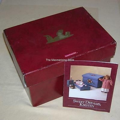 Pleasant Company American Girl KIRSTEN WASHSTAND EMPTY BOX & PAMPHLET ONLY