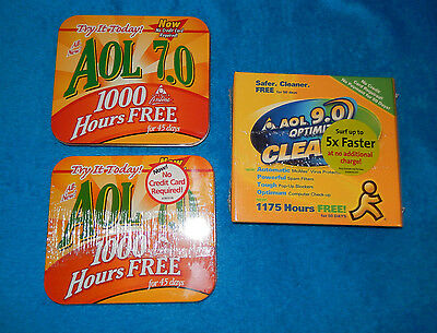 America on Line -AOL 7.0 Start Up Tins- Collectable Promotions Multi Lot