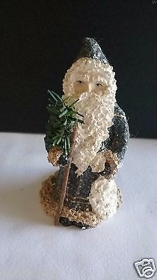 "1998 Belsnickle  Santa Holding TREE Figurine Enesco 5"" TALL"
