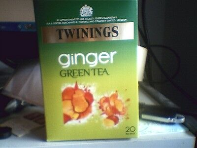 Twinings Green Tea with Ginger 20 teabags NEW STOCK