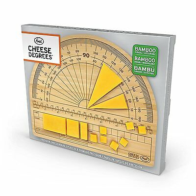 Fred CHEESE DEGREES Bamboo Cutting Board Measure Portions Christmas Gift New