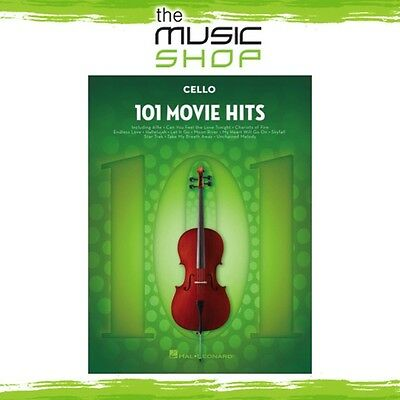 New 101 Movie Hits for Cello Music Book - Instrumental Solo Songbook