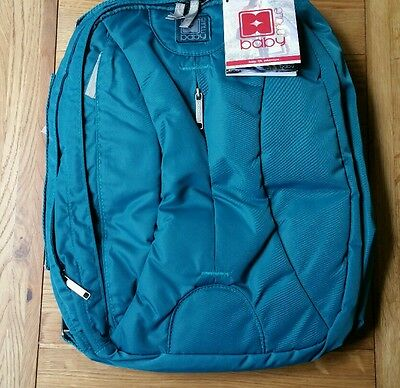 Baby Mule Backpack Rucksack Messenger Style Baby Changing Bag Teal Green New