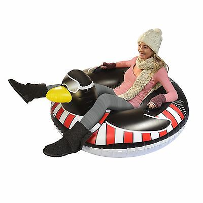 GoFloats Winter Snow Tube - Party Penguin - The Ultimate Sled & Toboggan