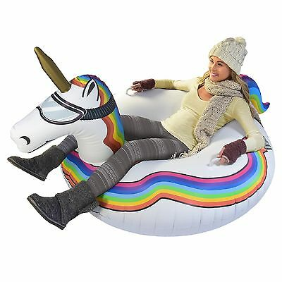 GoFloats Winter Snow Tube - Unicorn - The Ultimate Sled and Toboggan