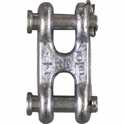"""Stanley National Hardware 3248BC 1/4"""" & 5/16"""" Zinc Plated Double Clevis Link"""