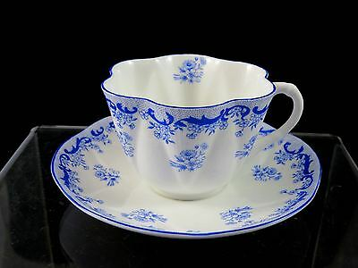 Vintage SHELLEY ENGLAND Heavenly Blue DAINTY CUP & SAUCER #14075