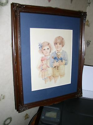 Jan Hagara ALICE & ANDREW FRAMED Matted Signed Numbered Lithograph Print