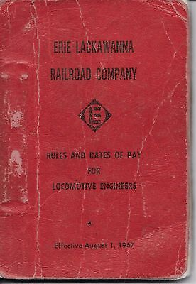 Erie Lackawanna Rules And Rates Of Pay For Locomotive Engineers August 1,1967