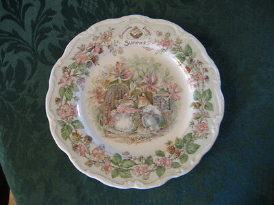 Royal Doulton Brambly Hedge Summer Plate
