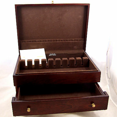 Reed Barton Silverware Flatware Storage Chest Wood 1 Drawer
