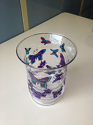 Authentic Large Hand Painted Glass Vase