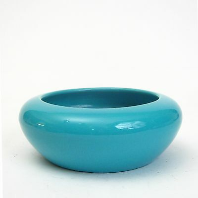 Bauer Pottery Turquoise Bulb Bowl 1940's California Pottery