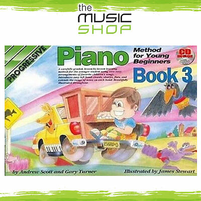 Progressive Piano Method for Young Beginners Book 3 with CD - Kids Learning Book