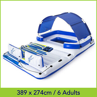 Bestway Tropical Breeze Inflatable Floating Island Raft w. Cooler Bag & Shade