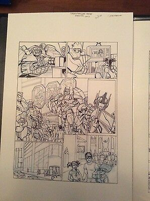 Original Transformers Prime art from Eaglemoss UK 4 page strips by Dan Khanna