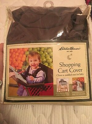 Eddie Bauer Shopping Cart Cover, Geo Print (brown & Blue), Pre-owned