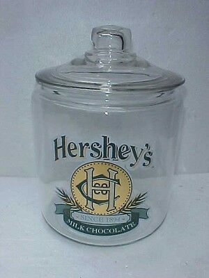 Vintage Hershey's Candy peanut Counter Jar  w/ lid, Tom's Store, Lance Gordons