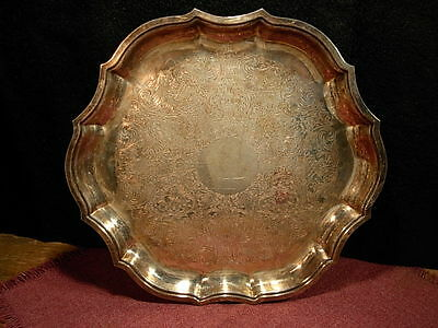 Vintage International Silver Plated Chippendale Serving Tray