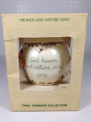 Hallmark Ornaments Unbreakable Satin Ornament 1979 Heaven And Nature Sing