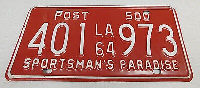 1964 Louisiana privately owned semi-trailer license plate