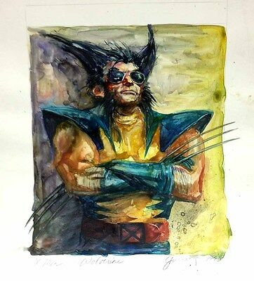 Marvel X-Men THE WOLVERINE Oil Painting! Original Art is ONE-OF-A-KIND!