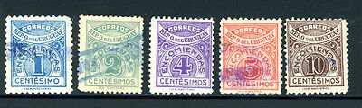 Uruguay Scott # Q25 - Q29 Used  -- Awesome Stamps