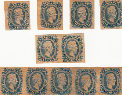 CONFEDERATE STATES OF AMERICA STAMPS-Multiples,  US CIVIL WAR