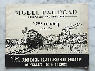 """Model Railroad Equipment and Supplies 1939 Catalog """"O"""" and """"HO"""" Gauge"""