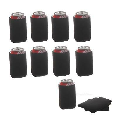 30pcs Neoprene Can Holder Cooler Stubby Beer Chilling Cozy Cosy Black