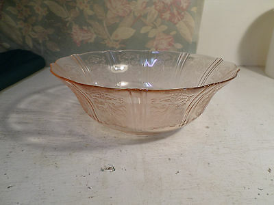 American Sweetheart Pink Depression Glass Bowl by MacBeth and Evans 1930