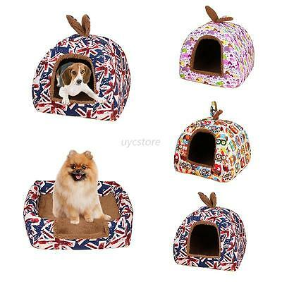 Pet Dog Cat Bed House Cute Doggy Puppy Warm Soft Cushion Basket Pad Mat S- L