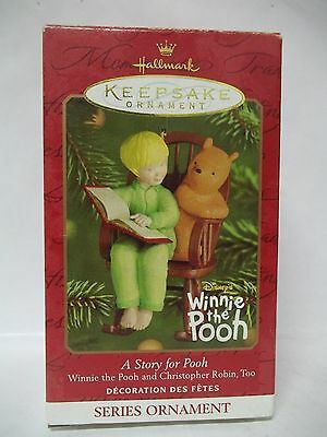Hallmark ornament - 2001 A Story for Pooh-Christopher Robin in Rocking Chair NIB